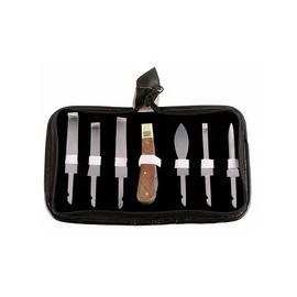 Hoof Knives Set Wooden Handle