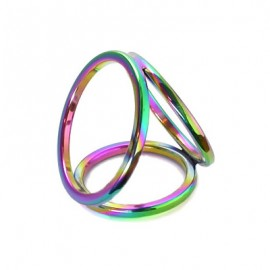 Rainbow Triple Cock Ring