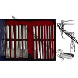 Uterine Hegar Dilator Set Of 14