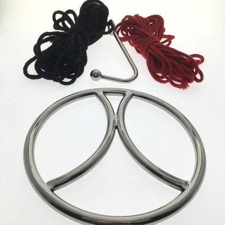 Shibari Ring Set - Keiō - Suspension Ring Set By Oxy - Ring, Ropes, Hook